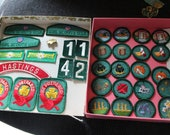 Vintage  Girl Scout Badges and Pins 36 pc.Assortment 1960s