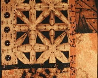Handmade Art Quilt - Sepia II