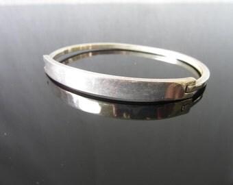 Sterling Silver Bracelet Modernist Bangle Sleek In Design