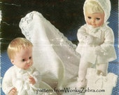 Vintage Knitting PDF Pattern 141 Baby Dolls Layette from WonkyZebra