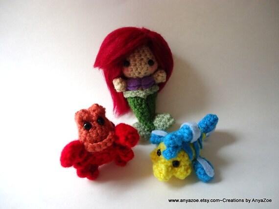 Amigurumi Little Mermaid : Little Mermaid Amigurumi by AnyaZoe on Etsy