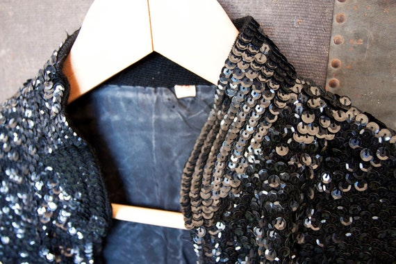 RESERVE listing for christiandiorme 1980s vintage sequined jacket