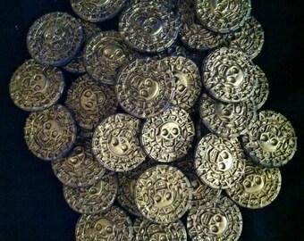 Gum Paste Edible Pirates Coins