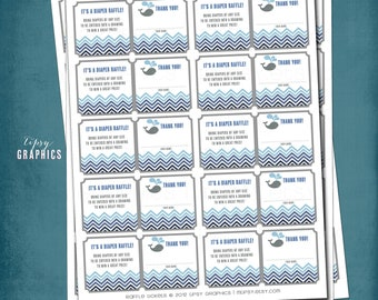 Under the Sea. Whale Chevron Raffle Tickets by Tipsy Graphics. Bring a Book. Diaper Raffle.