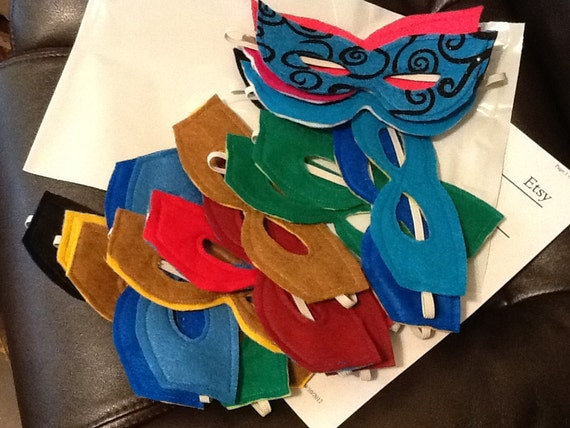 20 Assorted colors Super Hero/SHEero  Childrens MASKS