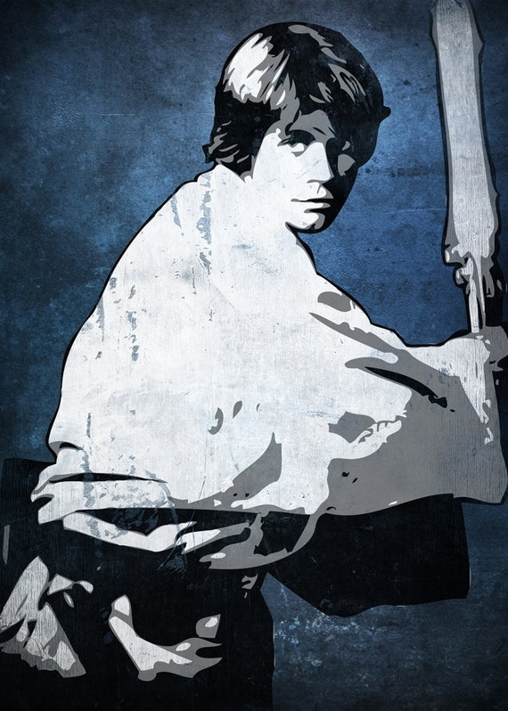 Luke Skywalker Star Wars Pop Art Print 5 X 7 By Cutitoutart