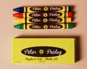 Personalized Sunflower Wedding Crayons (Great Favors to keep all the littles busy)