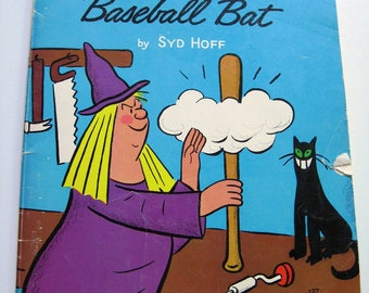 The WITCH, the CAT and the BASEBALL Bat - Vintage Children's Book, Halloween