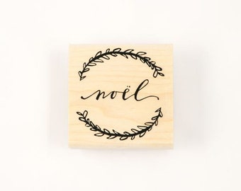 noel wreath stamp