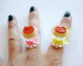 Kitty Flan Pudding ring (CHOOSE ONE)