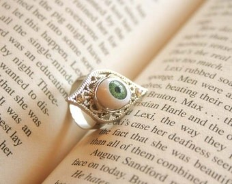 Green Evil Eye ring