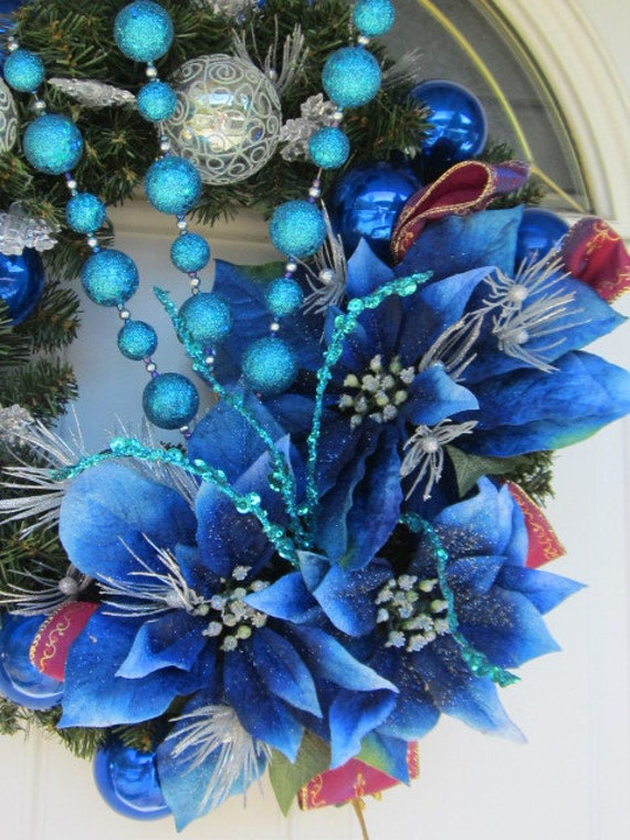 I'll HaVe a Blue Christmas WithOUT YoU Front DOor Wreath  18 x 19 x 7