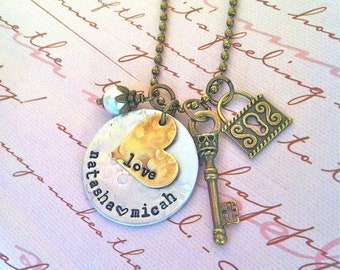 NEW-Key of Love..KEYS Collection...Hand Stamped