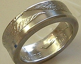 New Zealand 20 Cent Coin Ring (Available in sizes 8.5 through 13)