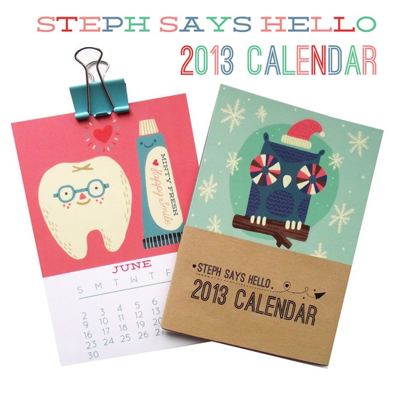 2013 Illustrated 12 Month Calendar