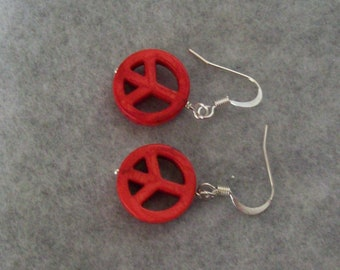 Peace Sign Earrings, Bargin Earrings, Eco Friendly Earrings