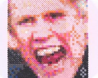 Mini Perler Portrait - Gary Busey