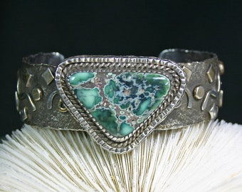 Turquoise cuff bracelet Winter green mine top grade,JS-br-013