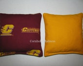CHIPPEWAS Central Michigan University Cornhole Corn Toss Bean Bag Baggo Set of 8