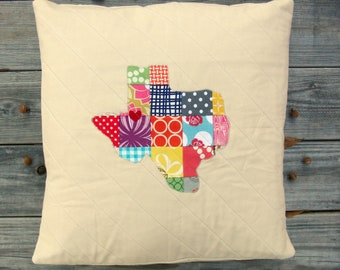 "CHOOSE YOUR STATE - State Love Pillow Sham - 18"" x 18"" size"