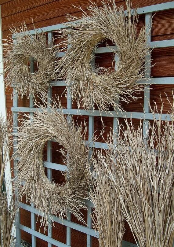 """Daylily Twig Harvest Wreath - 20"""" size"""