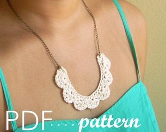 PDF crochet necklace pattern   Mignonne Necklace   DIY digital pattern