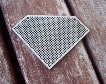 DO IT YOURSELF. Wood Needlecraft Pendant, Brooch, Necklace or Earring -1 piece Blank-