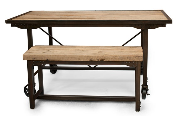 Farmhouse upcycled Oak Dining Table and Bench Kitchen Table : il570xN4703683947pz1 from www.etsy.com size 570 x 371 jpeg 31kB