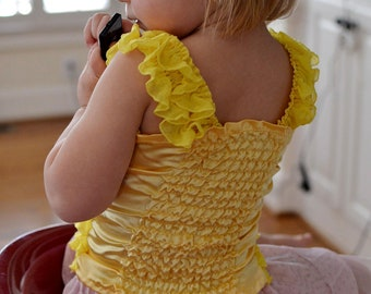 Buttercup Yellow Ruffled Petti Tube Top-sizes 0-6Y