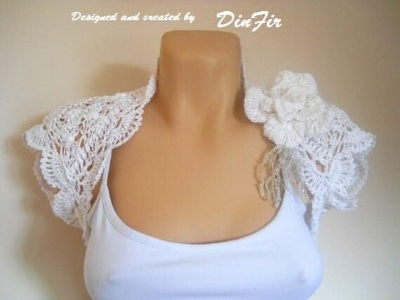 LIQUIDATION Stock SALE 30% OFF Bridal Shrug Bolero Wedding Bridesmaid Accessories Jacket Crochet Women Elegant Romantic Hand Knitted Capelet