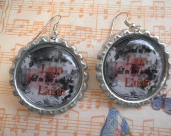And so the Lion Fell in Love With Lamb Earrings