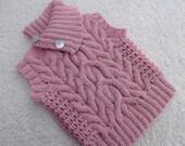 Pink Cable Vest.