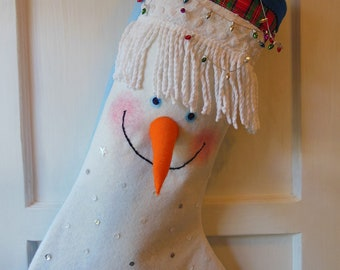 SNOWMAN  CHRISTMAS  STOCKING  ...  Snowman  :)