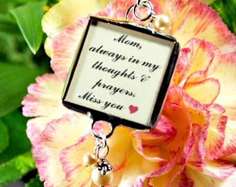 Bridal Bouquet Photo Charm Wedding Bouquet Floral Bouquet Keepsake