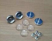DIY 10mm Blank Stud Earrings Base Setting Set