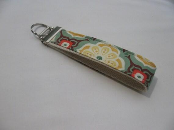 Modern Floral  Wristlet Key Fob, FREE Shipping
