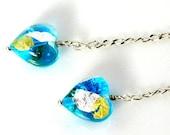 LP 710  Murano Glass Heart Earrings