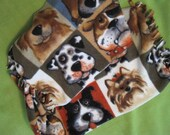 Reserved for Terri - Cats and Hearts Blanket, Diva Dog Blanket and Dog Faces in Big Squares Scarf