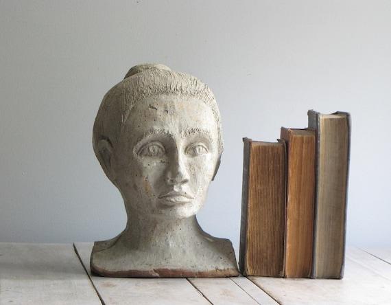 vintage classic bust sculpture