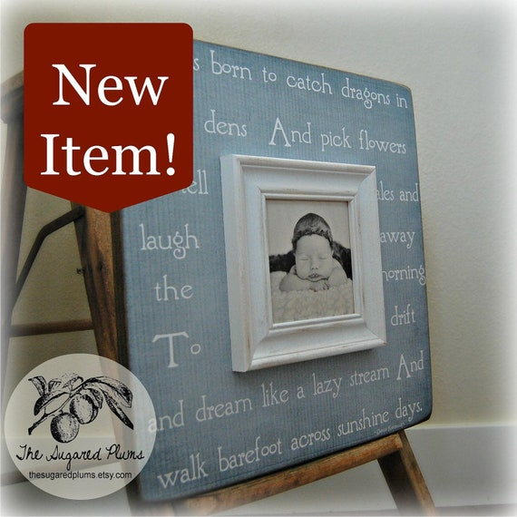 Personalized Baby Gift Picture Frame 16x16 I WAS BORN Baptism Christening First Birthday Gift Godparents New Baby Mothers Day Shower Gift