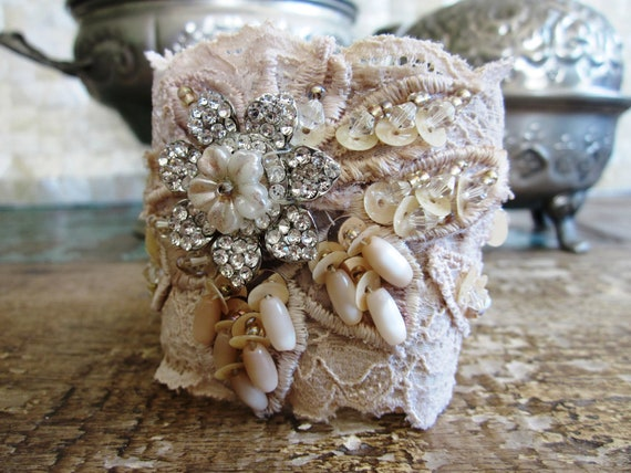 Vintage Cream Cuff - Reserved for Laurie