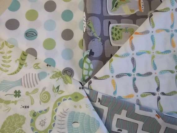 Baby Boy, Rag Quilt Kit, Backyard Baby, Fast and Easy to Make, Personalized