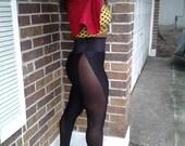 High Waist Black on Sheer Black Leggings