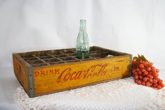 Yellow Coca Cola Crate Box