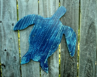 Set Of 3 Rustic Wooden Sea Turtles, Beach-y, Casual Cottage Decor, You Choose Colors