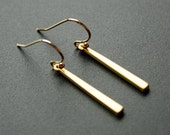 Gold Small Bar Earrings Dangle Earrings