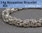 14g Byzantine Bracelet Chainmaille Kit in Sterling Silver