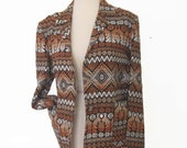Guatemala Woven Bird Blazer textured woven blanket jacket small / medium