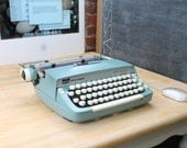 USB Typewriter - A Computer Keyboard made from a Smith Corona Super Sterling (Powder Blue)
