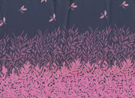 Large Scarf of pink leaves and blue gray sky